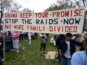 Protestors call for Obama to keep his promises