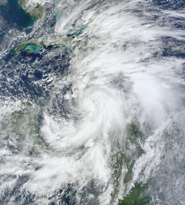 Hurricane Sandy on its path