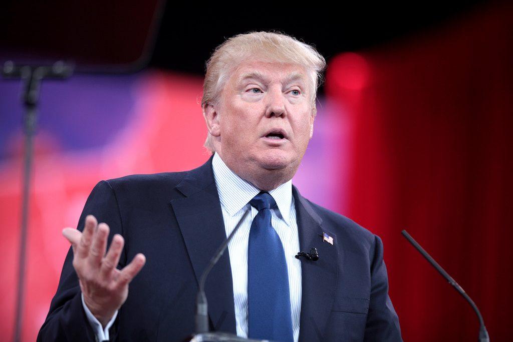 Donald Trump looking satisfied